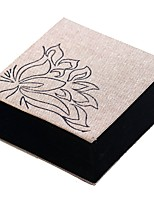 cheap -Jewelry Boxes Cufflink Box Square Linen Cloth Fabric