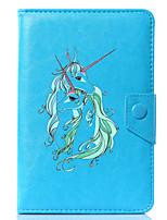 abordables -caja universal de la cubierta del soporte del cuero de la PU del unicornio de la historieta para 7 pulgadas 8 pulgadas 9 pulgadas tableta