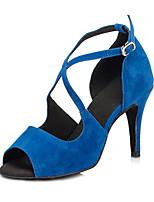 "cheap -Women's Latin Leatherette Sneaker Training Trim Stiletto Heel Blue Red Black 2"" - 2 3/4"" Customizable"