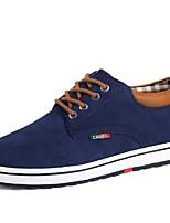 Недорогие -Для мужчин обувь Кожа Весна Осень Удобная обувь Кеды для Повседневные Черный Коричневый Синий