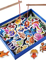 cheap -Board Game Toys Animals Magnetic Parent-Child Interaction Square Wooden Classic Theme Classic & Timeless Classic Pieces Kids Gift