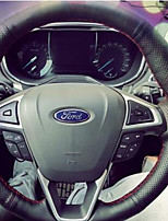 Недорогие -автомобильные крышки рулевого колеса (кожа) для универсальных универсальных двигателей ford mondeo подходит для моделей с высоким
