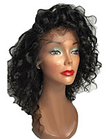 cheap -Hot Sale 100% Brazilian Human Hair Kinky Curly Lace Front Wig With Bang Human Hair  Natural Hair Lace Front Wigs For Woman With Baby Hair On Sale