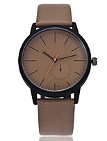cheap -Women's Fashion Watch Wrist watch Chinese Quartz Large Dial Leather Band Casual Minimalist Black Brown Grey Beige Dark Green