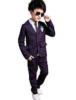 preiswerte -Jungen Kleidungs Set Alltag Schultaschen Druck Verziert Cartoon Design Baumwolle Polyester Frühling Herbst Langärmelige Freizeit Street
