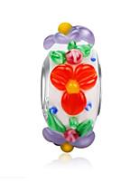 cheap -DIY Jewelry 1 pcs Beads Enamel Coloured Glaze Alloy White Round Bead 0.2 cm DIY Necklace Bracelet