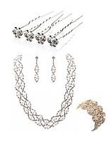 abordables -Mujer Cadenas y esclavas Los sistemas nupciales de la joyería Cristal Moda Europeo Boda Fiesta Perla Artificial Diamante Sintético