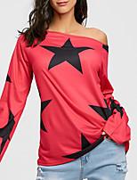 abordables -Tee-shirt Femme Imprimé Bateau Coton