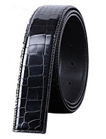 cheap -Genuine Leather Waist Belt,Black Light Brown Casual
