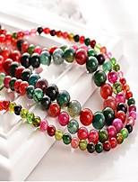 cheap -DIY Jewelry 48 Beads Rainbow Round Synthetic Gemstones Bead 1 cm DIY Bracelet Necklace