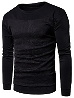 cheap -Men's Petite Daily Casual Sweatshirt Print Round Neck Micro-elastic Cotton Long Sleeve Spring/Fall Autumn/Fall
