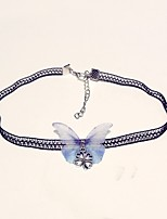 cheap -Women's Butterfly Classic Fashion Choker Necklace , Lace Alloy Choker Necklace , Daily