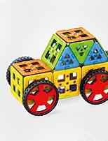 preiswerte -Magnetische Bauklötze Spielzeuge Auto Mode Transformierbar Weicher Kunststoff 68 Stücke