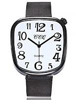 Недорогие -Жен. Модные часы Китайский Кварцевый Крупный циферблат сплав Группа На каждый день минималист Черный Серебристый металл Розовое золото