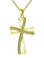 abordables -Femme Croix Classique Pendentif de collier Zircon Pendentif de collier , Quotidien
