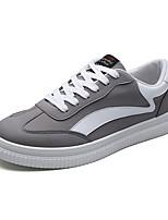 Недорогие -Муж. обувь Полиуретан Весна Модная обувь Удобная обувь Кеды Беговая обувь для Повседневные Офис и карьера Белый Черный Серый