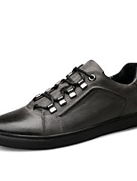 cheap -Shoes Cowhide Nappa Leather Leather Spring Fall Driving Shoes Comfort Sneakers for Casual Office & Career Black Gray