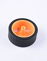 cheap -Crab Kingdom® DIY Educational Car Parts Car Wheel  TT Motor Tyre 1PCS Black and Orange#2