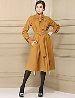 cheap -Women's Loose Dress - Solid Color, Basic High Waist Shirt Collar