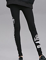 cheap -Women's Vintage Style Cotton Thick Solid Color Legging,Solid Black