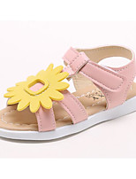 cheap -Girls' Shoes Leatherette Spring Summer Comfort Sandals for Casual Pink Yellow White