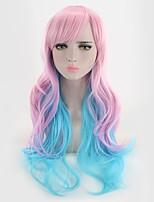 Недорогие -Искусственные волосы парики Волнистый Естественные кудри Без шапочки-основы Карнавальный парик Парик Лолита Парики для косплей Фиолетовый