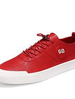 preiswerte -Herrn Schuhe PU Frühling Herbst Komfort Sneakers für Draussen Schwarz Rot