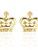 cheap -Crown Golden Cufflinks Copper Casual Lovely Birthday Ceremony Men's Costume Jewelry