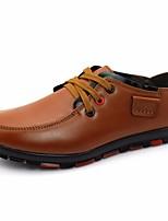 Недорогие -Для мужчин обувь Кожа Весна Осень Удобная обувь Кеды для Повседневные Черный Желтый Синий