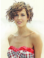 cheap -Women Synthetic Wig Short Curly Hair Brown/Blonde Highlighted/Balayage Natural Wigs Celebrity Wig