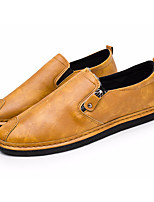 cheap -Men's Shoes PU Spring Fall Comfort Loafers & Slip-Ons for Casual Black Brown Camel