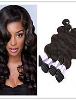 Недорогие -4 предмета Черный Естественные кудри Бразильские волосы Ткет человеческих волос Наращивание волос 0.4kg