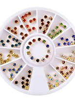 baratos -Ornamentos Roda Cristal Gemas Multi Cores Multi-Côr Nail Art Design Dicas de uñas Ferramenta de arte de unhas