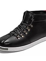 Недорогие -обувь Кожа Наппа Leather Зима Осень Удобная обувь Кеды для Повседневные Черный Красный