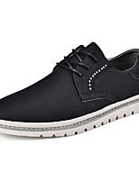 cheap -Men's Shoes Synthetic Microfiber PU Spring Fall Comfort Oxfords for Casual Black Khaki