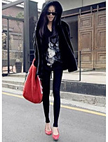 cheap -Women's Daily Casual Winter Fur Coat,Solid Hooded Long Sleeve Regular Others