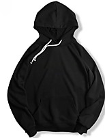 cheap -Men's Sports Simple Solid Hooded Regular, Long Sleeves Winter Fall Cotton