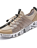cheap -Shoes PU Spring Fall Light Soles Sneakers for Casual Gold Black/Gold Black/White