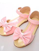 cheap -Girls' Shoes PU Spring Summer Flower Girl Shoes Novelty Sandals Bowknot Magic Tape for Party & Evening Dress White Pink