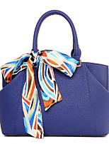 preiswerte -Damen Taschen PU Tragetasche Schleife(n) für Alle Jahreszeiten Blau Schwarz Rote Beige Violett