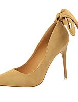 preiswerte -Damen Schuhe Pelz Frühling Herbst Gladiator Pumps High Heels Stöckelabsatz für Kleid Party & Festivität Schwarz Rot Rosa Mandelfarben