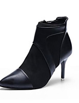 preiswerte -Damen Schuhe Nappaleder PU Winter Herbst Komfort Stiefel Stöckelabsatz Spitze Zehe Geschlossene Spitze Booties / Stiefeletten für Normal