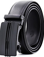 cheap -Men's Genuine Leather Waist Belt,Black Party Work Casual Solid Modern Style Stylish