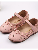 cheap -Girls' Shoes PU Spring Fall Comfort Flower Girl Shoes Flats for Casual Pink Red Beige
