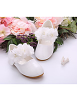 abordables -Fille Chaussures Cuir Verni Printemps Eté Chaussures de Demoiselle d'Honneur Fille Semelles Légères Ballerines Marche Applique Fleur La