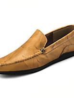 Недорогие -обувь Полиуретан Весна Осень Мокасины Мокасины и Свитер для Повседневные Черный Желтый Вино