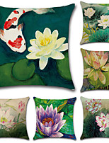 cheap -6 pcs Cotton/Linen Pillow CoverFloral Bohemian Style Retro