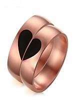 Недорогие -Муж. Жен. Кольца для пар , 2шт Мода Розовое золото Круглый Бижутерия Подарок Валентин