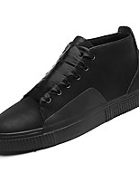 cheap -Men's Shoes Synthetic Microfiber PU Spring Fall Comfort Sneakers for Casual Black Black/White