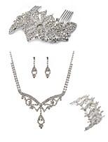 preiswerte -Damen Haarkämme Braut-Schmuck-Sets Strass Europäisch Modisch Hochzeit Party Diamantimitate Aleación Schmetterling Körperschmuck 1